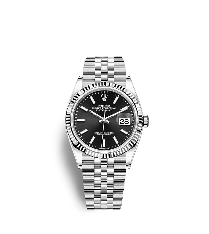 Rolex Datejust 36, Oyster, 36 mm, Oystersteel and white gold